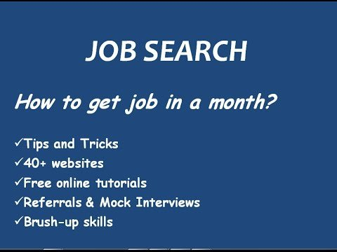 Job Searching Techniques