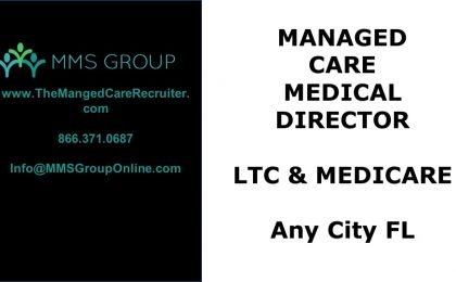 Medical Director Job LTC and Medicare - Florida