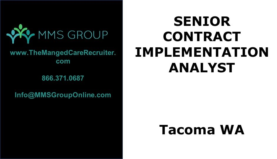 Sr Contract Implementation Analyst Job – Tacoma WA